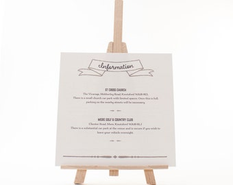 Wedding Invitation: Additional Info Card - Estelle - Vintage Eat, Drink and be Merry