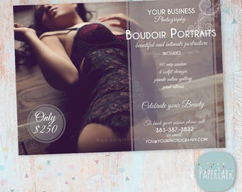 Valentine Boudoir Marketing Boards - 2 Boards Included - Photoshop template - IL004 - INSTANT DOWNLOAD