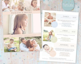 Studio Pricing Packages Marketing Board - Photoshop template - IP009 - INSTANT DOWNLOAD