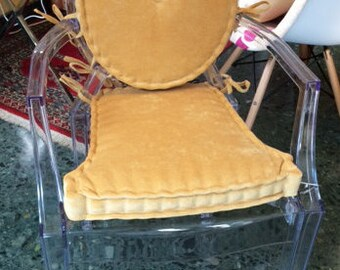 Set of seat and back cushions for Louis Ghost chair.