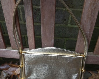 Prom Purse Bridal Reversible silver gold reversible Vintage