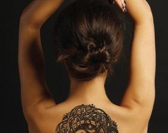 Zen Balance Om Temporary Tattoo - Rub On Individual Design