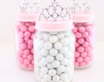 Party Favors/Princess Party Favor Glass Jar - MULTIPLE OPTIONS AVAILABLE