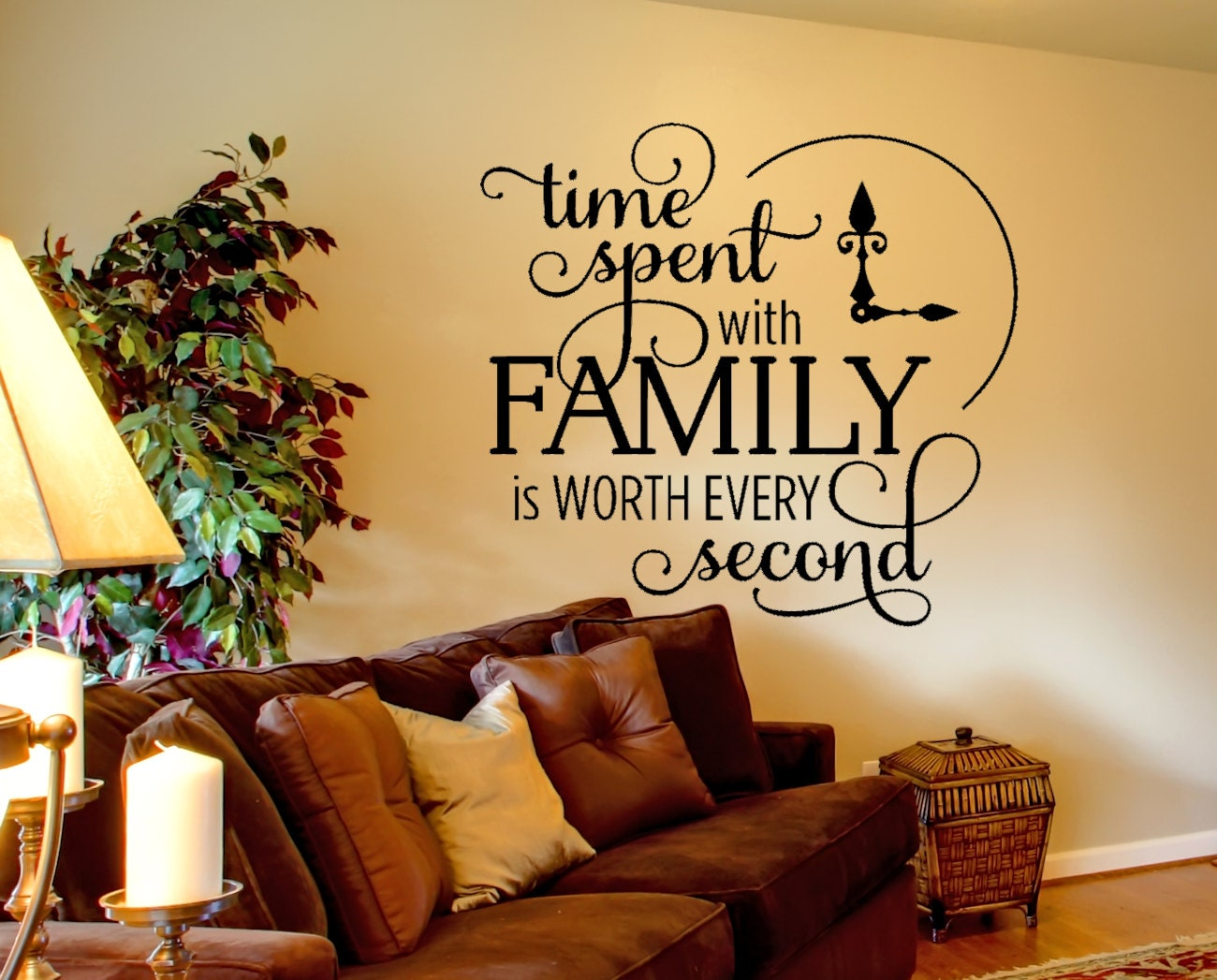 Family wall decal time spent quote wall decal inspirational zoom amipublicfo Choice Image