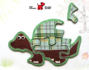 Tortoise PDF Sewing Pattern 5 piece Jigsaw Puzzle Toy Pattern Soft Toy PDF Quiet Book Felt Animal Toy