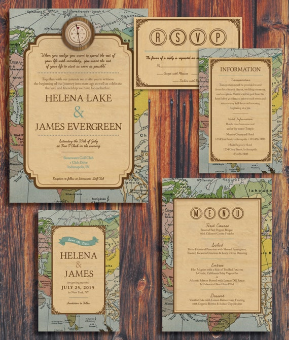 Vintage Wedding Invitations Etsy with great invitations layout