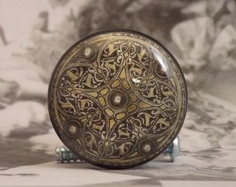 "1-1/2"" Celtic Dresser Knobs - Celtic Golden Pendant Knobs"