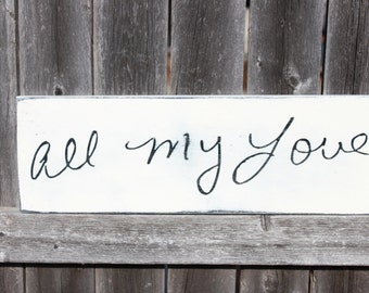 Handwriting Sign- Custom Memorial Sign- Handwriting Decor- Wall Art- Personalized Handwriting Sign- Handwriting Plaque- Wooden Sign- Painted