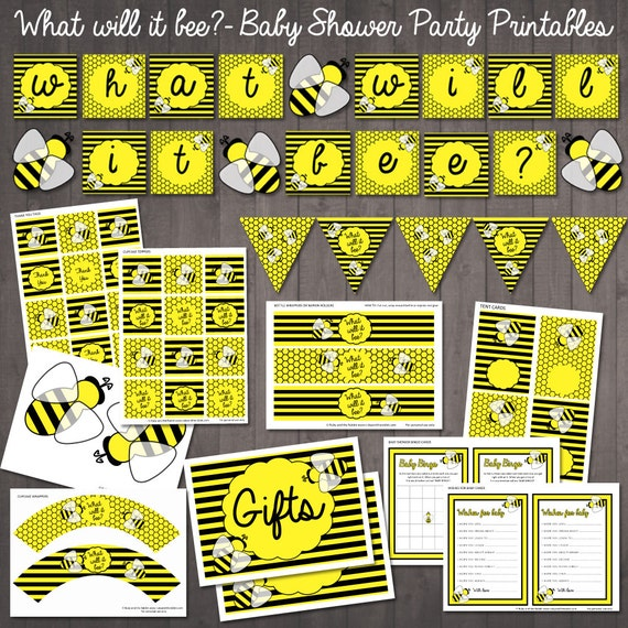 what will it bee baby shower bumble bee baby shower party supplies