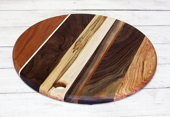wooden cutting board round cherry ambrosia maple and walnut. Black Bedroom Furniture Sets. Home Design Ideas