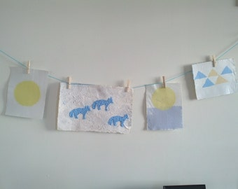 Recycled Handmade Paper - Pulp Painting Wall Art