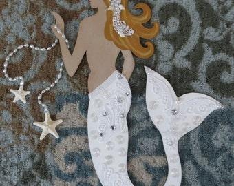 Beach mermaid bride wall decor_Beach wedding Mermaid_Mermaid Wall Art_beach wedding decor
