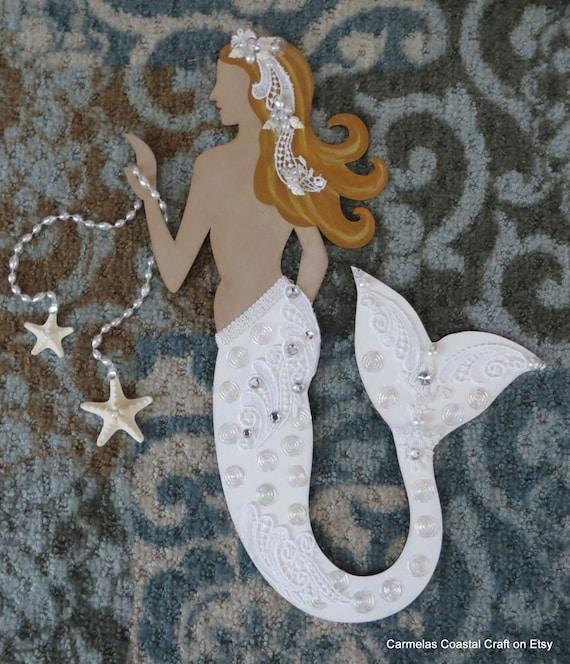 Etsy Coastal Wall Decor : Items similar to beach mermaid bride wall decor