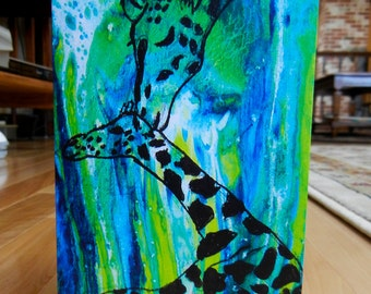 Mother and Baby Giraffe Greeting Card (With Envelope)