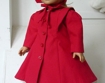 American Girl doll - up-cycled coat and bonnet