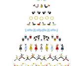 Christmas Card Set (3 Cards) // Twelve Days of Christmas