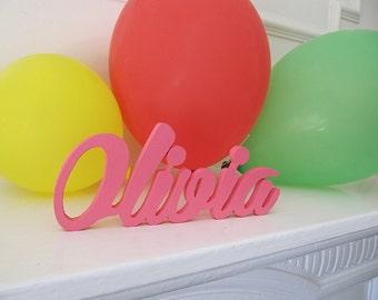 Olivia, Custom made Nursery Pesonalised Door Plaques, Decor Signs, Wall hanging,Housewares,Kids Personalized Birthday