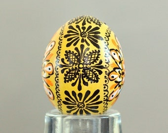 New 2015 Designs - Yellow hand painted Easter egg