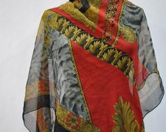 Vintage PRINTED  scarf , (741)