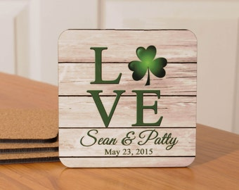 Personalized Irish Love Coasters - set of 4