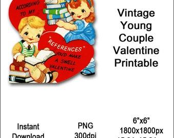 Vintage kids valentines – Etsy