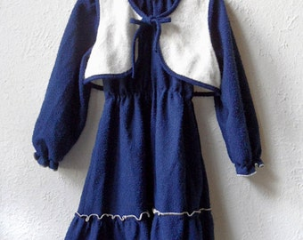 Lizzy - 1970's Towelling Dress with matching Bolero - Age 5 to 7