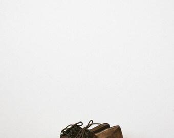 70s brown suede ferragamo shoes   Size 6 1/2 A