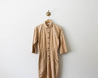 vintage 80s cotton jumpsuit dress