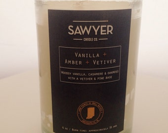 Vanilla, Amber and Vetiver Soy Candle