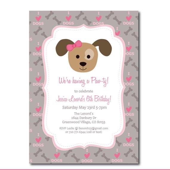 Free Online Dog Birthday Invitations