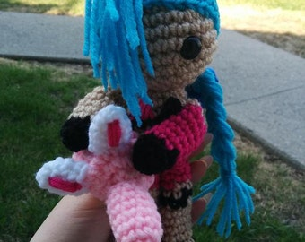 Made-To-Order Inspired by Riot's League of Legends Jinx Amigurumi
