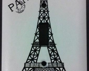 Hand Designed Eiffel Tower Paris Single Light Switch Cover Room Decor