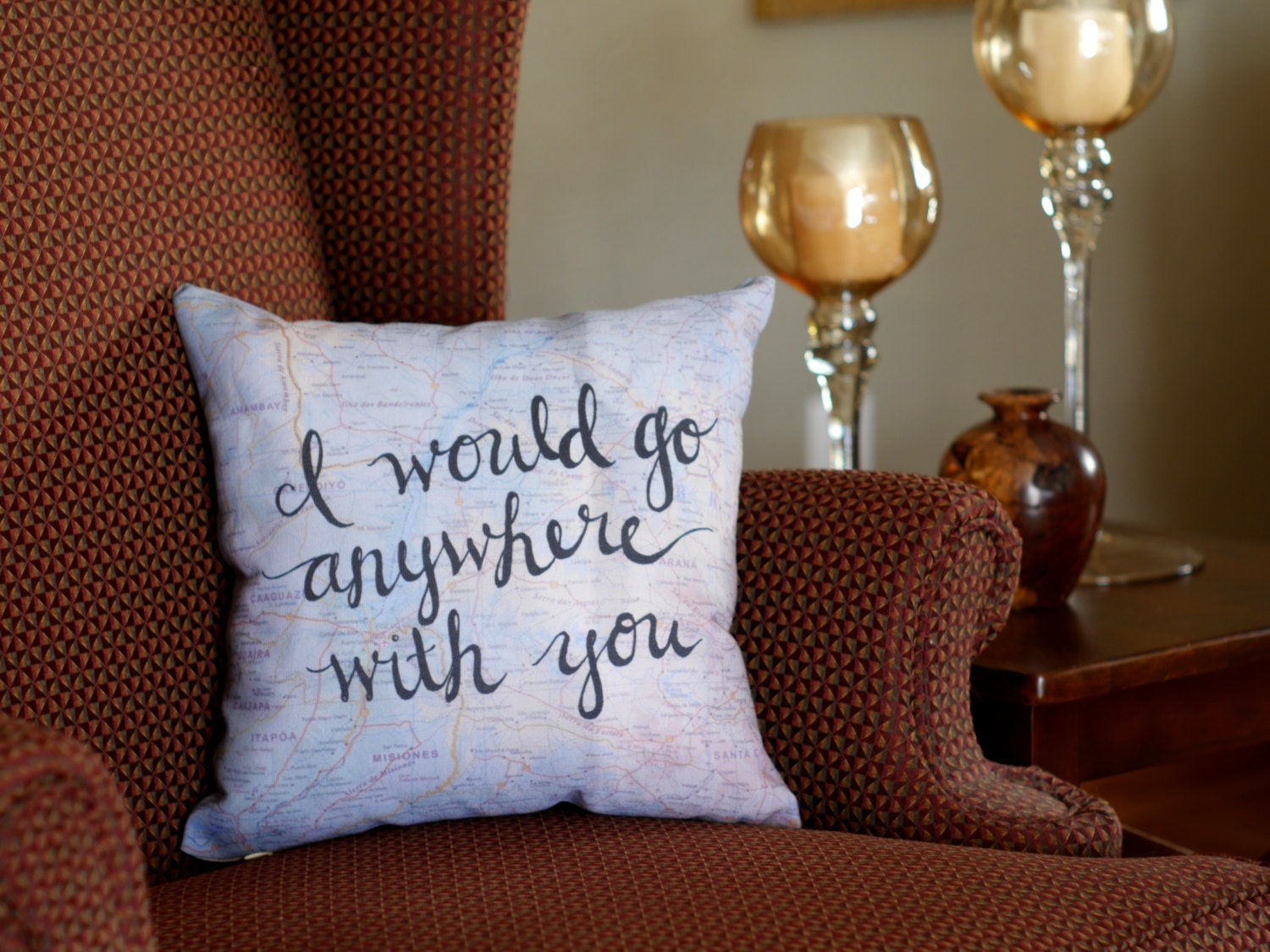 Travel Quote Throw Pillows Valentines Day Gifts for Husband
