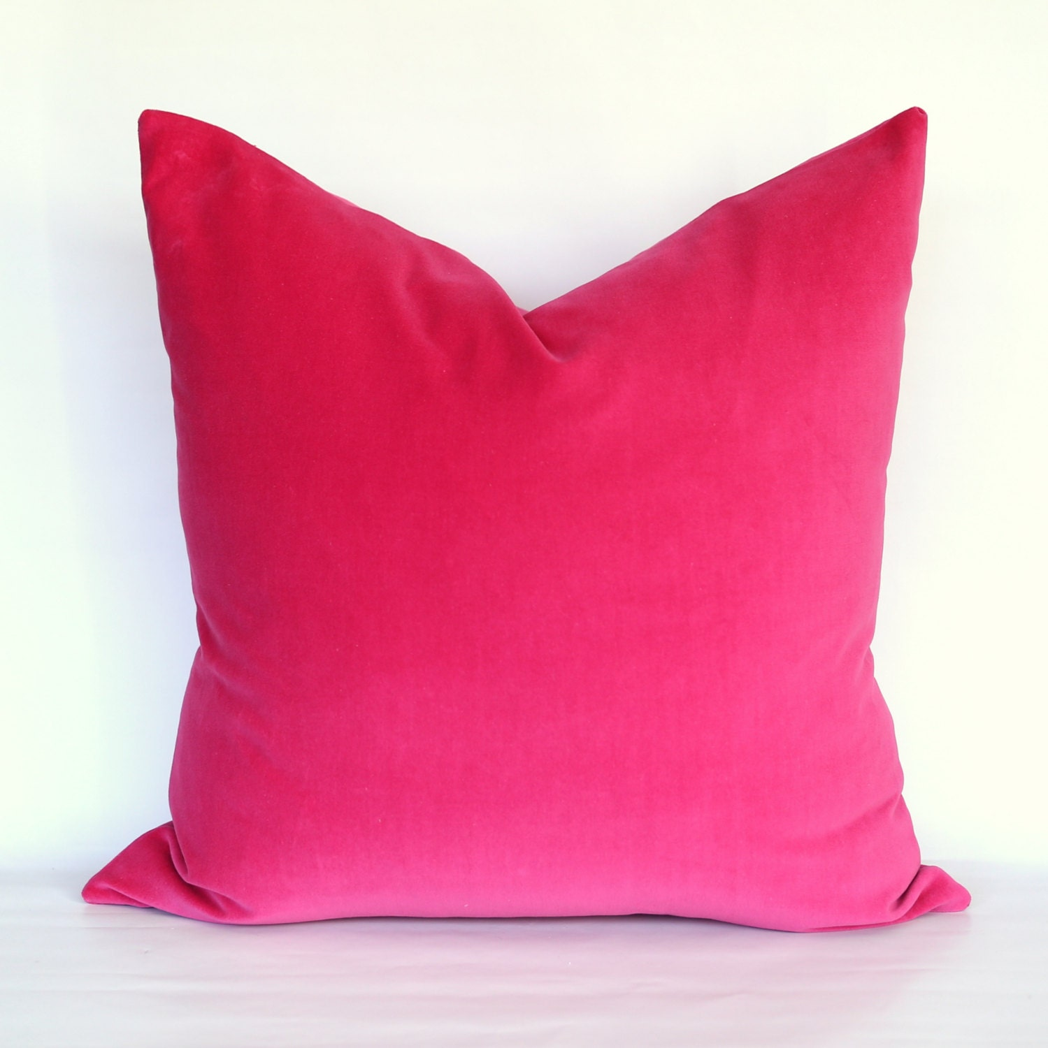 Fuschia Velvet Throw Pillows : Fuschia Velvet Pillow Cover Choose Your Size