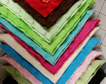 """Minky Charm Pack - 12 - 5"""" (inch) squares"""