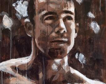 "Light on Jason, 21""x28"" Original Painting on Canvas"