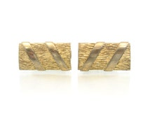 Vintage Anson Cuff Links, Textured, Gold Tone, Signed, Men's Jewelry