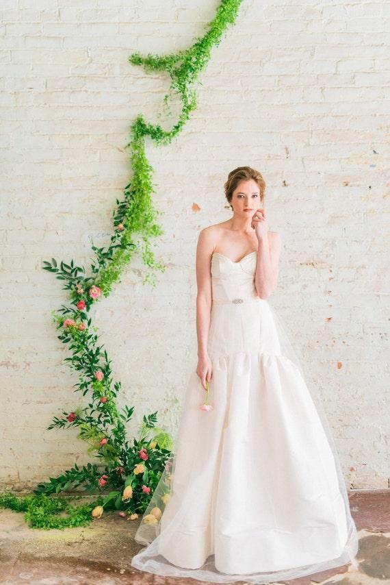 Fit And Flare Wedding Dress Silk Ball Gown Wedding Dress