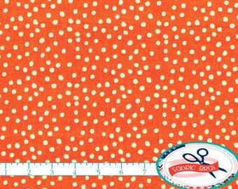 BRIGHT ORANGE Fabric by the Yard, Fat Quarter Orange Dot Fabric Polka dot fabric 100% Cotton Fabric Quilting Fabric Apparel Fabric w8-23