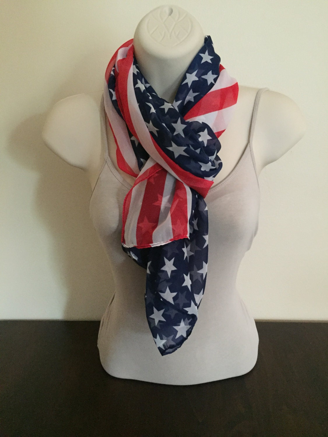 scarf american flag scarf usa scarf 4th of july by kmsupplies