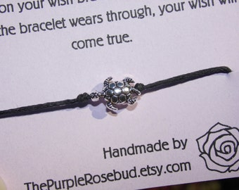 Turtle Tie-on Wish Bracelet - 6 colours