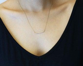 CZ bar necklace  EN028