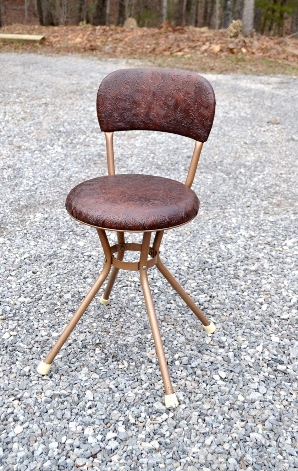 Reserved Sale Vintage Cosco Swivel Kitchen Stool Chair Bronze