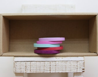 Washi Tape Set of 5  - thin washi tape set -  5 colors - S102