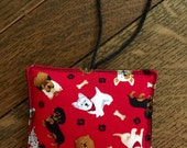 DOG Christmas ornament FABRIC - 100% PROCEEDS benefit dog cat pet Rescue