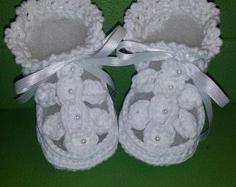 PATTERN Crochet Gladiator Baby Booties