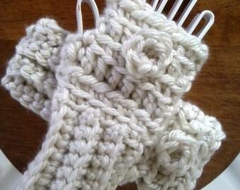 Womens Crocheted Fingerless Gloves - Ready to Ship