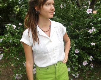 Vintage Lime Green High Waisted Shorts