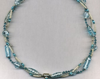Shades of Blue Starlight Necklace