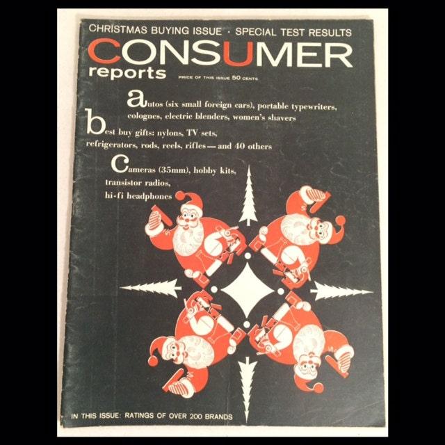 Consumer Guide Magazine: 1957 CONSUMER REPORTS Magazine Christmas Buying Issue VW